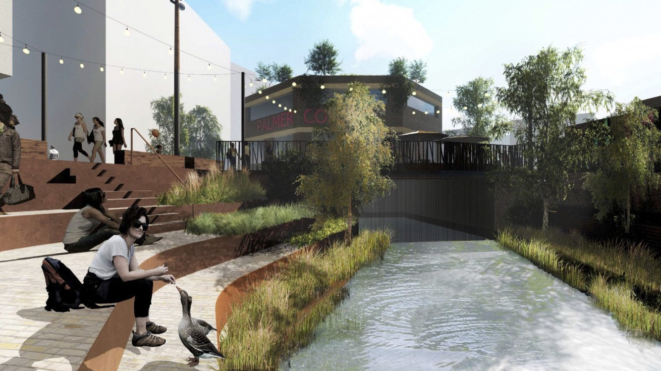 River Sherbourne at Palmer Lane visual